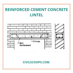 Reinforced Cement Concrete Lintel