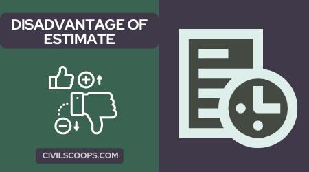 Disadvantage of Estimate (1)
