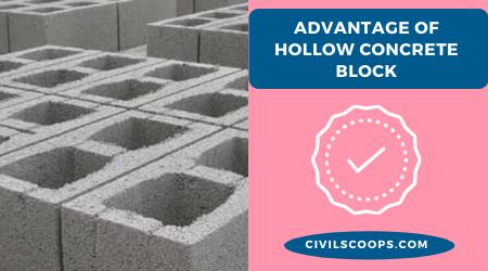 advantage of Hollow Concrete Block